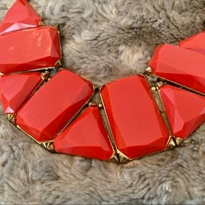 • red statement necklace •